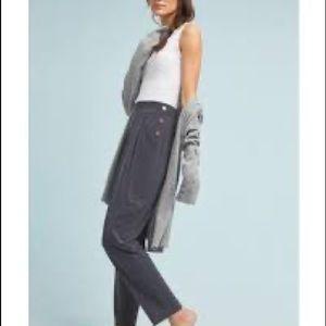 Anthropologie Abroad Cupro Pants Black/Gray XS